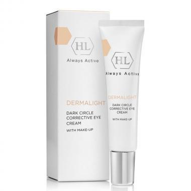 Осветлящий крем с тоном - Holy Land DERMALIGHT Dark Circle Corrective Eye Cream Make-Up, 15 мл