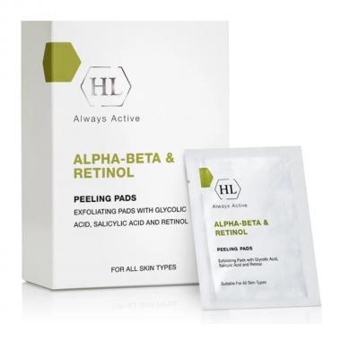 Отшелушивающие салфетки - Holy Land ALPHA-BETA Peeling Pads, 24 шт