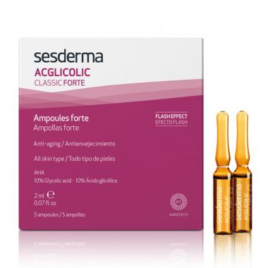 Средство в ампулах форте с гликолевой кислотой - Sesderma ACGLICOLIC CLASSIC FORTE Ampoules, 5x2 мл