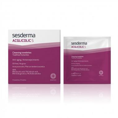 Салфетки очищающие для лица с гликолевой и салициловой кислотой - Sesderma ACGLICOLIC S Cleansing Towelettes, 14 шт