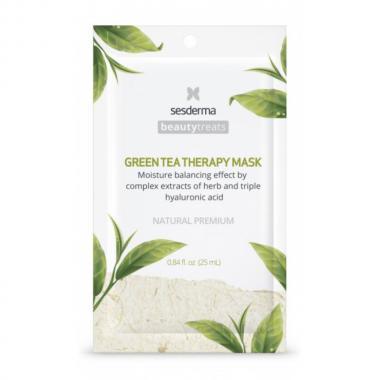 Маска увлажняющая для лица - Sesderma BEAUTYTREATS Green Tea Therapy Mask, 1 шт
