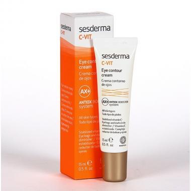 Крем-контур для зонывокругглаз - Sesderma C-VIT Eye Contour Cream, 15 мл