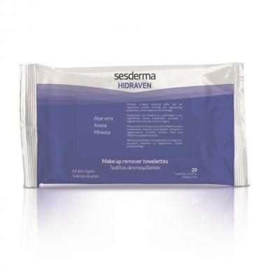 Салфетки для снятия макияжа - Sesderma HIDRAVEN Make-Up Removal Towelettes, 20 шт