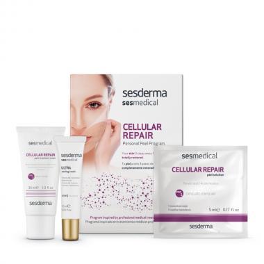 """Программа персональная """"Клеточное восстановление"""" (салфетка-эксфолиант - Sesderma SESMEDICAL Cellular Repair Personal Peel Program, 4 шт + 15 мл + 30 мл"""